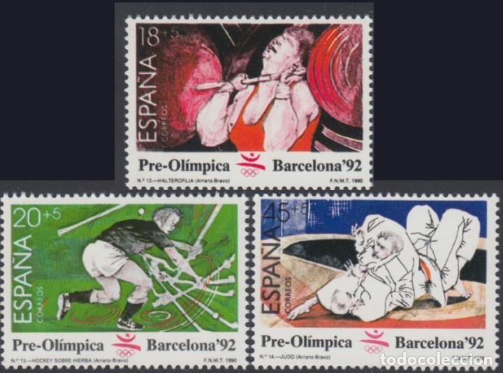 ESPAÑA. AÑO 1990, EDIFIL 3054/56** ''IV SER. PRE-OLÍMPICA ''./ NUEVOS, SIN FIJASELLOS. MNH. (Sellos - España - II Centenario De 1.950 a 1.975 - Nuevos)
