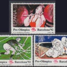 Sellos: ESPAÑA. AÑO 1990, EDIFIL 3054/56** ''IV SER. PRE-OLÍMPICA ''./ NUEVOS, SIN FIJASELLOS. MNH.. Lote 263082400