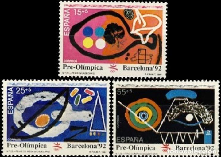 ESPAÑA. AÑO 1991, EDIFIL 3134/36** ''BARCELONA 92: VII SER. PRE-OLÍMPICA''./ NUEVOS, SIN FIJASELLOS. (Sellos - España - II Centenario De 1.950 a 1.975 - Nuevos)