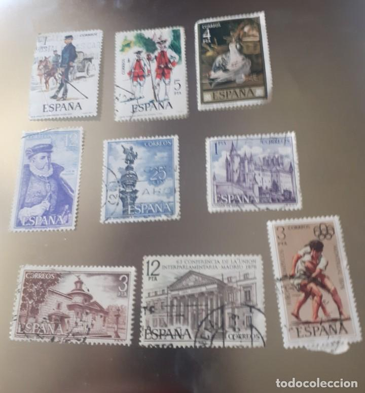 Sellos: lote de 22 sellos de España , usados ,años 70 - Foto 3 - 247689110