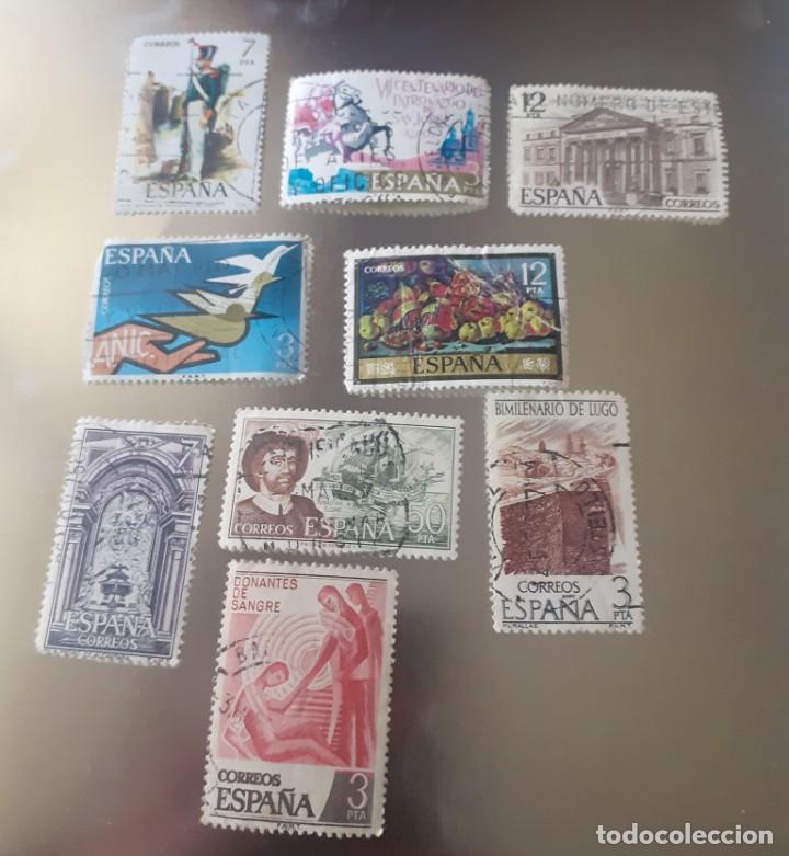 Sellos: lote de 22 sellos de España , usados ,años 70 - Foto 4 - 247689110