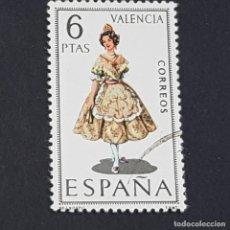 Francobolli: ESPAÑA, 1971, TRAJES TÍPICOS ESPAÑOLES, VALENCIA, EDIFIL 2014, USADO, ( LOTE AW ). Lote 247720320