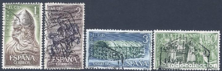 EDIFIL 1444-1447 RODRIGO DÍAZ DE VIVAR, EL CID (SERIE COMPLETA). (Sellos - España - II Centenario De 1.950 a 1.975 - Usados)
