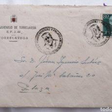 Sellos: TORRELAVEGA. CANTABRIA. RADIO JUVENTUD. 1956. CENTENARIO MENENDEZ Y PELAYO. Lote 251361585
