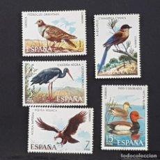 Timbres: ESPAÑA, 1973, FAUNA HISPÁNICA, EDIFIL 2134-2138**, COMPLETA, SIN FIJASELLO, (LOTE AW ). Lote 251660385