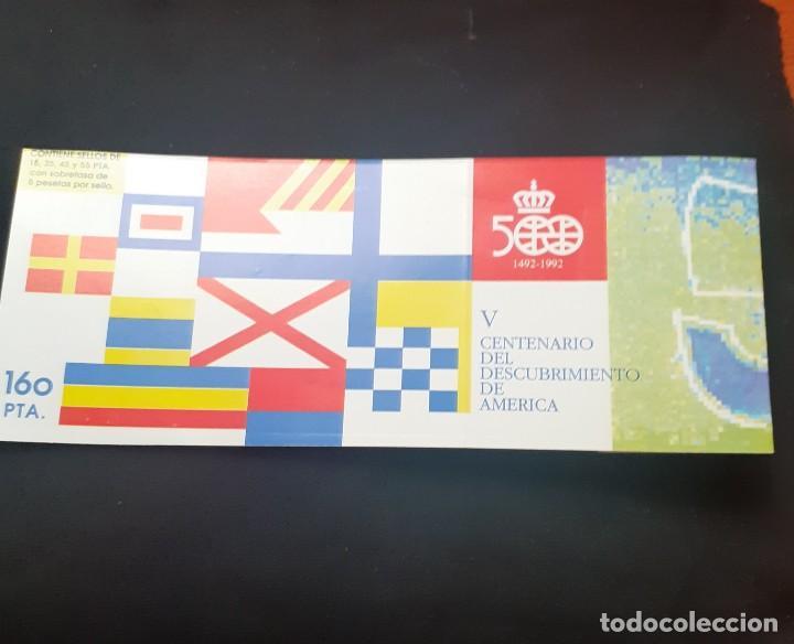 Sellos: carpeta de sellos nueva y Diptico con la Informacion de la serie Personajes del V Centenario - Foto 3 - 251817750