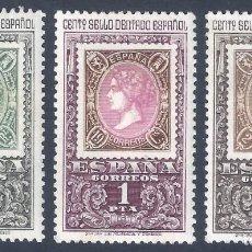 Sellos: EDIFIL 1689-1691 CENTENARIO DEL PRIMER SELLO DENTADO (SERIE COMPLETA). MNH **. Lote 275186413