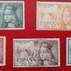 Francobolli: ESPAÑA 1951 V CENTENARIO DEL NACIMIENTO DE ISABEL LA CATÓLICA EDIFIL 1097/1101 - NUEVA SIN CHARNELA. Lote 252409895