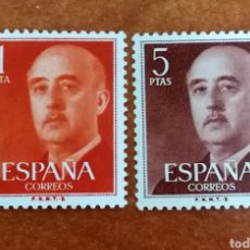 Sellos: ESPAÑA N°1290/91 MNH**GENERAL FRANCO 1960 (FOTOGRAFÍA REAL). Lote 294371568