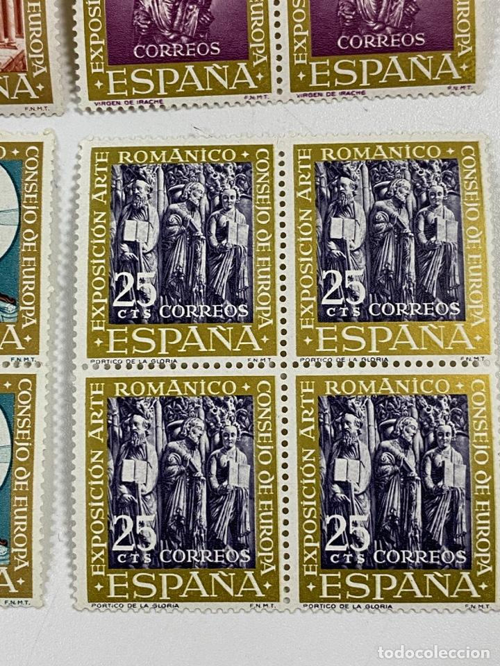 Sellos: ESPAÑA. EXPOSICION ARTE ROMANICO. SERIE COMPLETA. NUEVOS. BLOQUES DE 4. VER - Foto 5 - 253247865