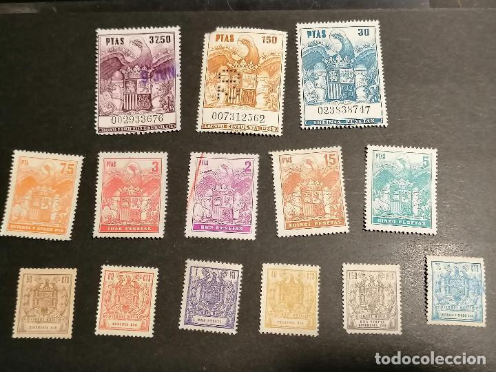 Sellos: España lote sellos Taxas polizas Timbres Epoca Franco usados - Foto 3 - 253506755