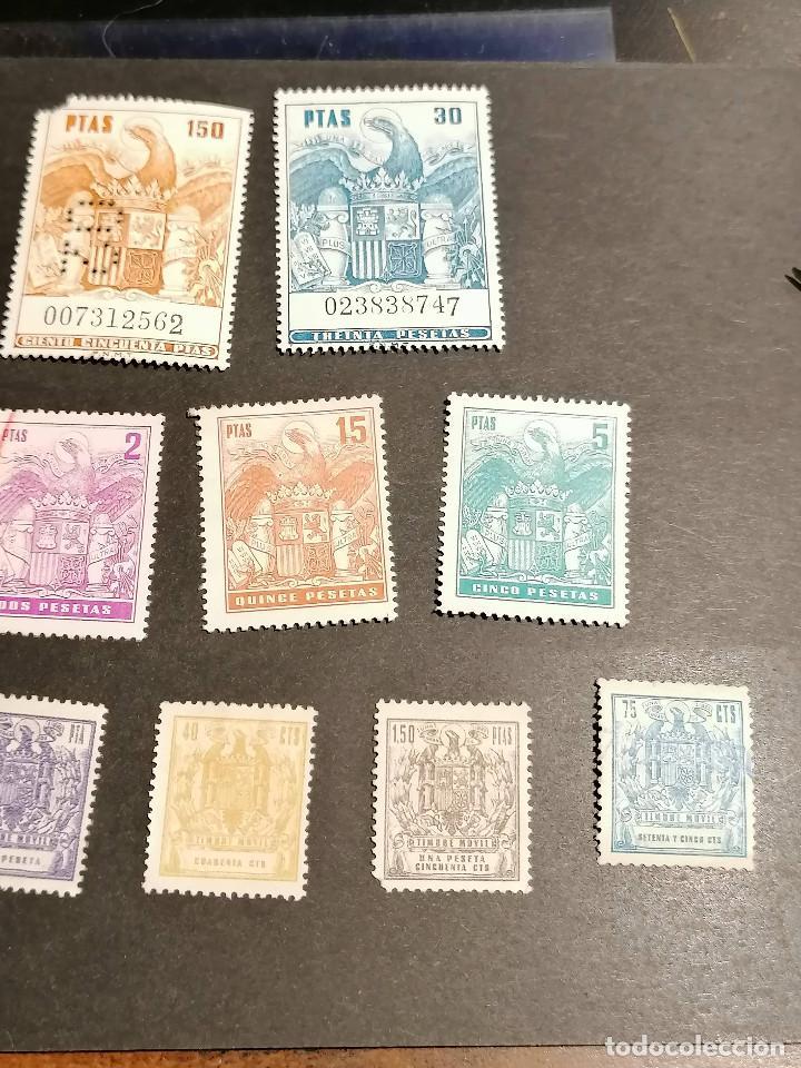 Sellos: España lote sellos Taxas polizas Timbres Epoca Franco usados - Foto 5 - 253506755