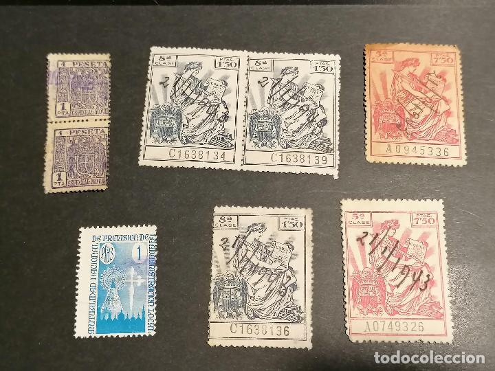 Sellos: España lote sellos Taxas polizas Timbres Epoca Franco usados - Foto 6 - 253506755