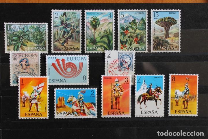 LOTE SERIES SELLOS AÑO 1973 NUEVOS (Sellos - España - II Centenario De 1.950 a 1.975 - Nuevos)