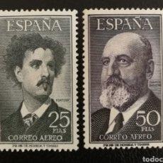 Francobolli: ESPAÑA N°1164/65 MH** FORTUNY Y QUEVEDO 1955 (FOTOGRAFÍA REAL). Lote 253670515