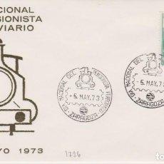 Selos: AÑO 1973 EDIFIL 1726 SPD FDC DIA NACIONAL DEL PENSIONISTA FERROVIARIO ZARAGOZA. Lote 253690920