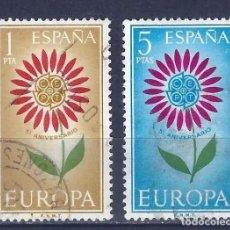 Timbres: EDIFIL 1613 1614 EUROPA CEPT 1964 USADOS, SIMILARES A LOS DE LA FOTO. Lote 253941860