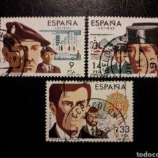 Sellos: ESPAÑA EDIFIL 2692/4 SERIE COMPLETA USADA 1983 CUERPOS DE SEGURIDAD DEL ESTADO PEDIDO MÍNIMO 3€. Lote 254113275