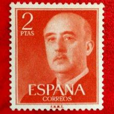 Francobolli: ESPAÑA N°1157 MNG(*) GENERAL FRANCO 1955 (FOTOGRAFÍA REAL). Lote 254181530
