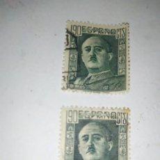 Sellos: DOS SELLO DE ESPAÑA 1946. FRANCO 90 CTS.. Lote 254288800