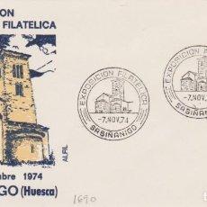 Sellos: AÑO 1974 EDIFIL 1690 SPD EXPO FILATELICA SABIÑANIGO. Lote 254355200