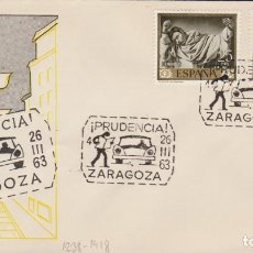 Sellos: AÑO 1963 EDIFIL 1238-1418 SPD FDC CAMPAÑA DE CIRCULACION PRUDENCIA ZARAGOZA. Lote 254359285