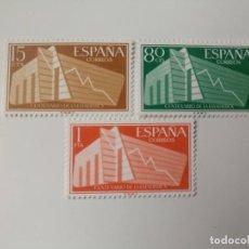 Sellos: I CET. ESTADÍSTICA ESPAÑOLA DEL AÑO 1956 EDIFIL 1196/1198 EN NUEVO**. Lote 254743795