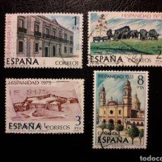 Sellos: ESPAÑA EDIFIL 2293/6 SERIE COMPLETA USADA 1975. HISPANIDAD. URUGUAY. PEDIDO MÍNIMO 3€. Lote 254843665