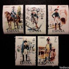 Sellos: ESPAÑA EDIFIL 2277/81 SERIE COMPLETA USADA 1975 UNIFORMES MILITARES. PEDIDO MÍNIMO 3€. Lote 254844015