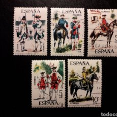 Sellos: ESPAÑA EDIFIL 2236/40 SERIE COMPLETA USADA 1975 UNIFORMES MILITARES. PEDIDO MÍNIMO 3€. Lote 254844050