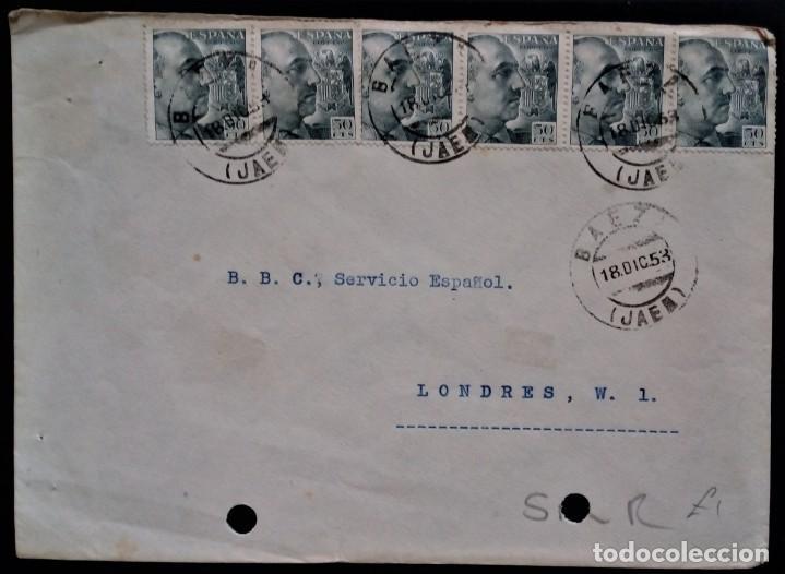 BAEZA JAEN 1953 FRANCO AMBULANTE UBEDA BAEZA EMP (Sellos - España - II Centenario De 1.950 a 1.975 - Cartas)