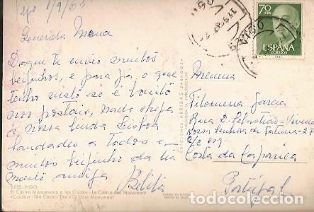 ESPANA & CIRCULADO, VIGO, EL CASTRO, MONUMENTO A LAS CUIDOS, COSTA DA CAPARICA PORTUGAL 1963 (2013) (Sellos - España - II Centenario De 1.950 a 1.975 - Cartas)