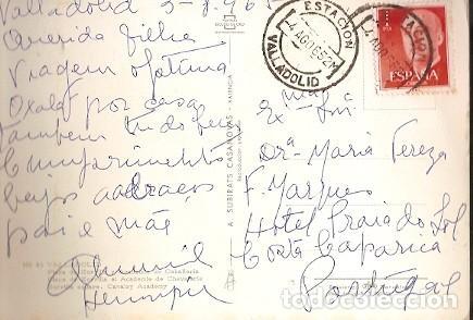 ESPANA & CIRCULADO, VALLADOLID, PLAZA DE ZORRILLA, COSTA DA CAPARICA PORTUGAL 1952 (25) (Sellos - España - II Centenario De 1.950 a 1.975 - Cartas)