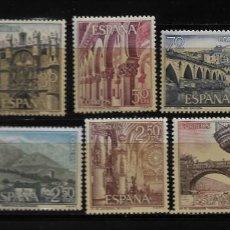 Sellos: II CENTENARIO - SERIE TURISTICA - EDIFIL 1643-52 - 1965. Lote 255933745