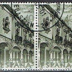 Sellos: EDIFIL Nº 1996, CASA DE LOS SEÑORES DE ESCALA EN QUERETARO (MEJICO), USADO EN PAREJA. Lote 257482065