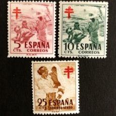 Sellos: ESPAÑA N°1103/05 MNH**TUBERCULOSOS 1951(FOTOGRAFÍA REAL). Lote 257660885