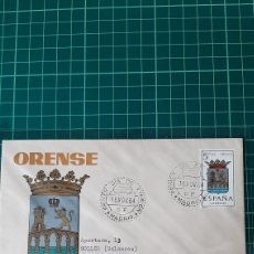 Sellos: CERTIFICADO SOLER 8 DESTINO SISO LERIDA EDIFIL 1561 ESCUDO ORENSE MATASELLO 1964. Lote 257763565