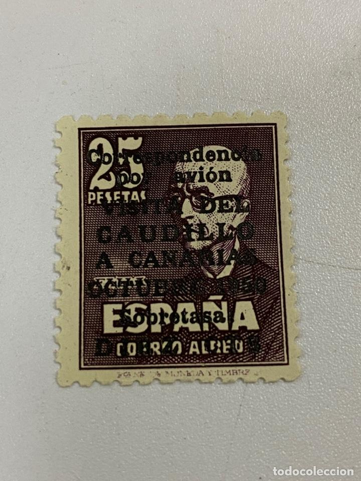 EDIFIL Nº 1090. ESPAÑA 1951. VISITA DEL CAUDILLO A CANARIAS. 25 PTAS. NUMERACIÓN AL DORSO.VER (Sellos - España - II Centenario De 1.950 a 1.975 - Nuevos)