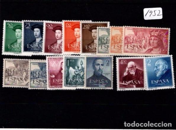 ESPAÑA SEGUNDO CENTENARIO AÑOS COMPLETO 1952 ** 15 SELLOS (Sellos - España - II Centenario De 1.950 a 1.975 - Nuevos)