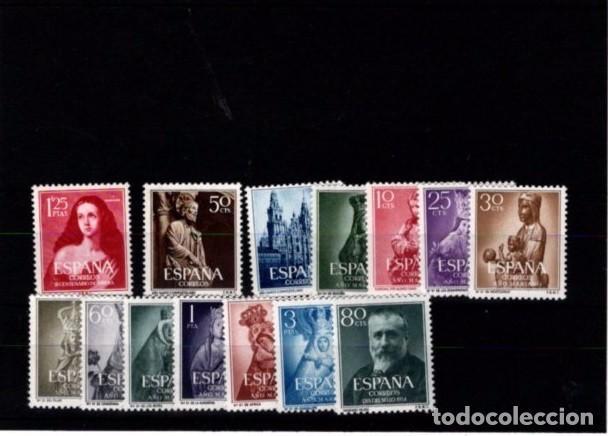 ESPAÑA SEGUNDO CENTENARIO AÑOS COMPLETO 1950 ** 15 SELLOS (Sellos - España - II Centenario De 1.950 a 1.975 - Nuevos)