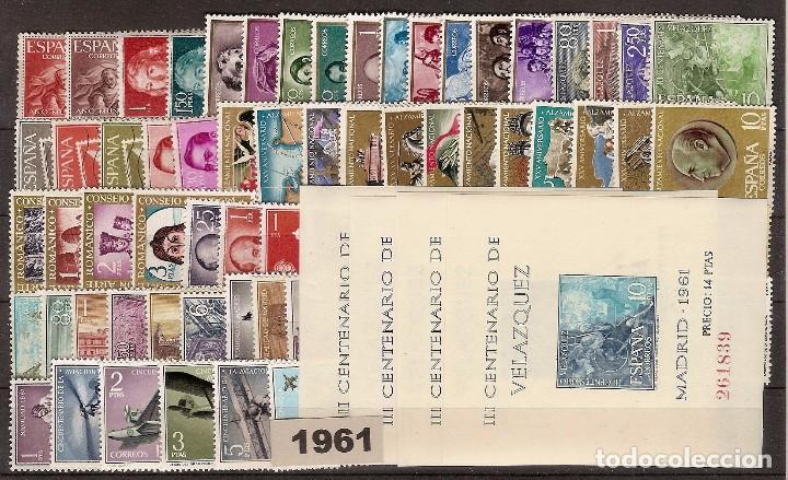 ESPAÑA SEGUNDO CENTENARIO 1960 AL 1964 SIN ESCUDOS VIENE EN UN CLASIFICADOR (Sellos - España - II Centenario De 1.950 a 1.975 - Nuevos)