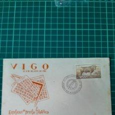 Sellos: 1962 VIGO PONTEVEDRA GALICIA MATASELLO EXPOSICIÓN FILATÉLICA PRENSA. Lote 261331020