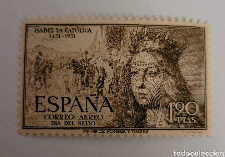 SELLO DE ESPAÑA 1951. ISABEL LA CATÓLICA 1.90 PTAS. NUEVO (Sellos - España - II Centenario De 1.950 a 1.975 - Nuevos)