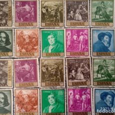Sellos: ESPAÑA, 20 SELLOS DE 1958, 1 SERIE EN NUEVO Y OTRA EN USADO @. Lote 261673960