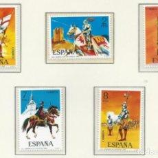 Francobolli: 1973. ESPAÑA. EDIFIL 2139/43**MNH. YVERT 1793/97. UNIFORMES MILITARES. MILITARY UNIFORMS.. Lote 261908395