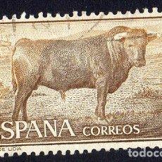 Sellos: EUROPA. ESPAÑA. TOROS DE LIDIA. EDIFIL 1254 USADO SIN CHARNELA. Lote 262020380