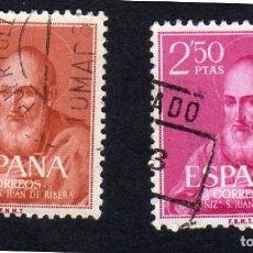 Sellos: EUROPA. ESPAÑA. CANONIZACIÓN DEL BEATO JUAN DE RIVERA. EDIFIL 1292-93 USADO SIN CHARNELA. Lote 262020895