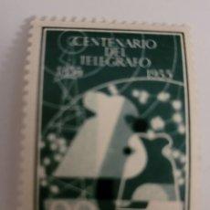 Sellos: SELLO DE ESPAÑA 1955. CENTENARIO DE TELÉGRAFOS. 80 CTS. NUEVO. Lote 262024635