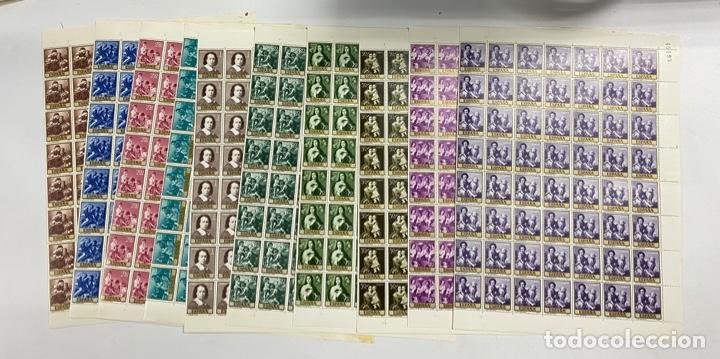 ESPAÑA, 1960. EDIFIL 1270/79. BARTOLOMÉ ESTEBAN MURILLO. NUEVOS. SIN FIJASELLOS. PLIEGOS. (Sellos - España - II Centenario De 1.950 a 1.975 - Nuevos)