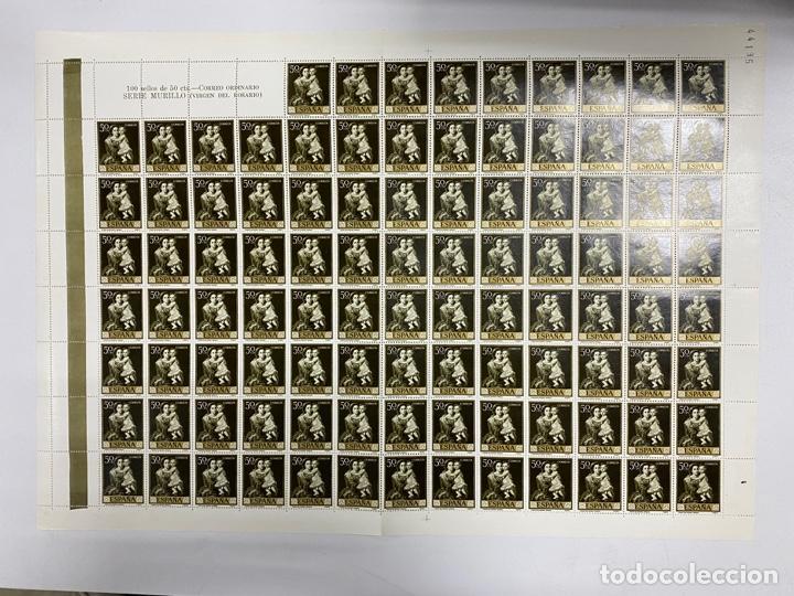 Sellos: ESPAÑA, 1960. EDIFIL 1270/79. BARTOLOMÉ ESTEBAN MURILLO. NUEVOS. SIN FIJASELLOS. PLIEGOS. - Foto 4 - 262685840